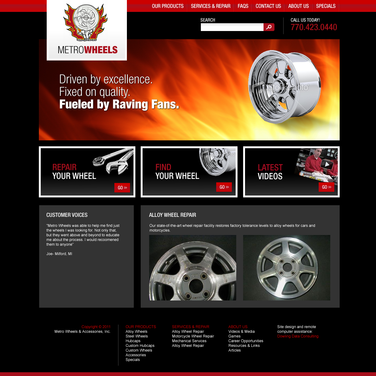 Dowling Data Consulting • Website & Logo Design: Metro Wheels