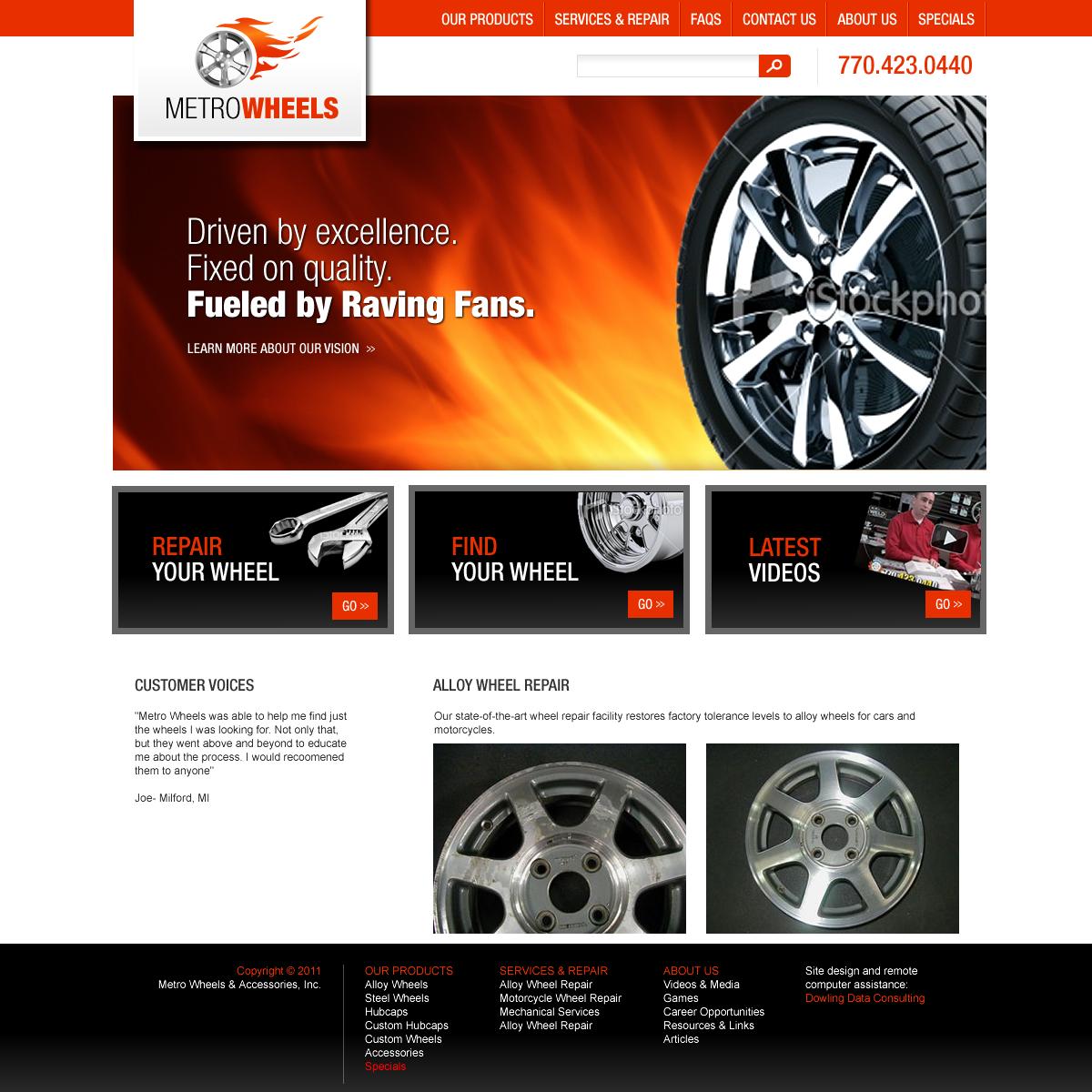 Dowling Data Consulting • Website & Logo Design: Metro